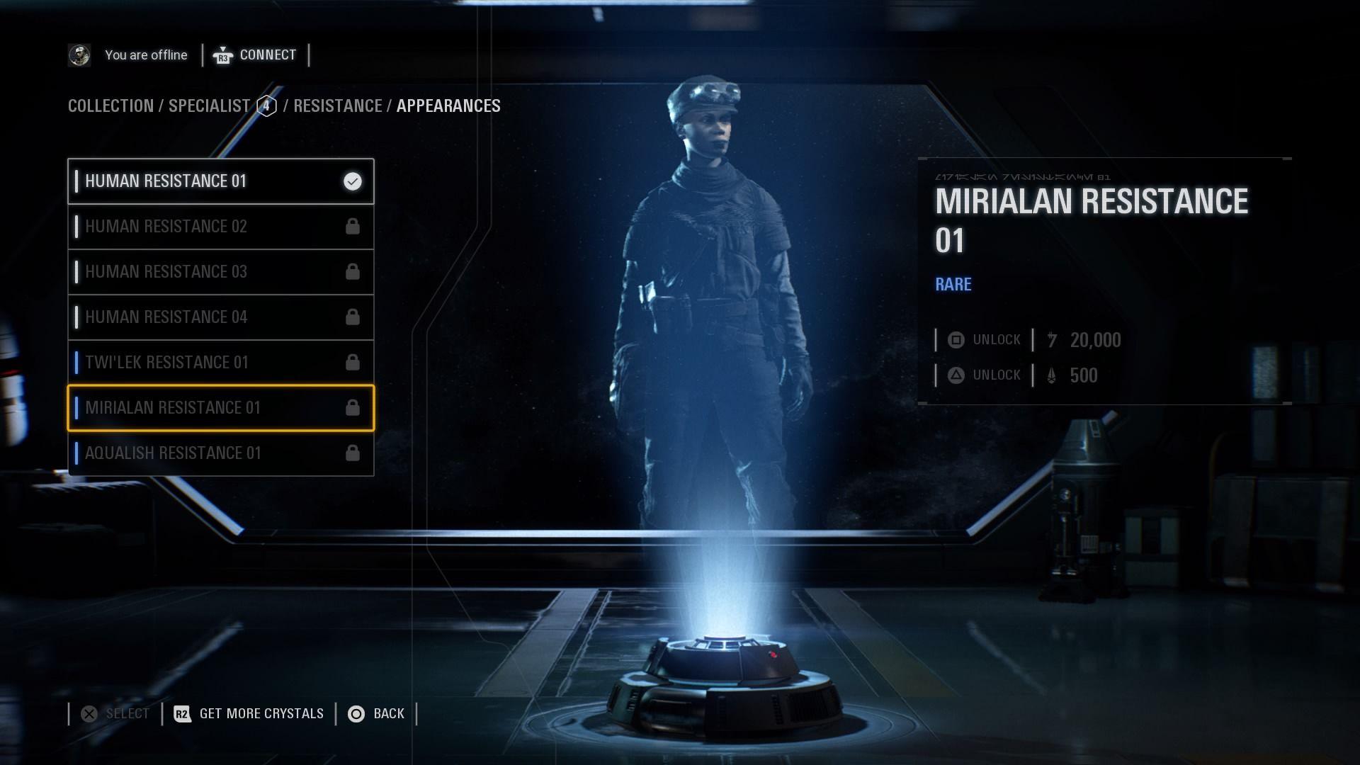 Star Wars Battlefront 2' Skins List - Appearances in April Update