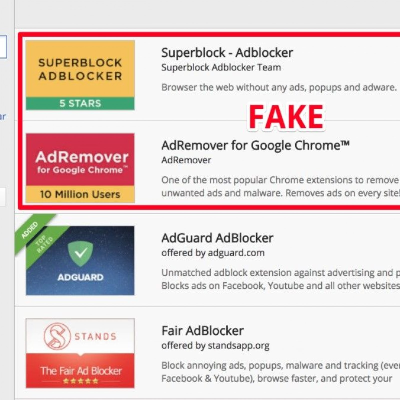 Google Chrome: Fake Ad Blockers Installed by 20 Million Users—how to