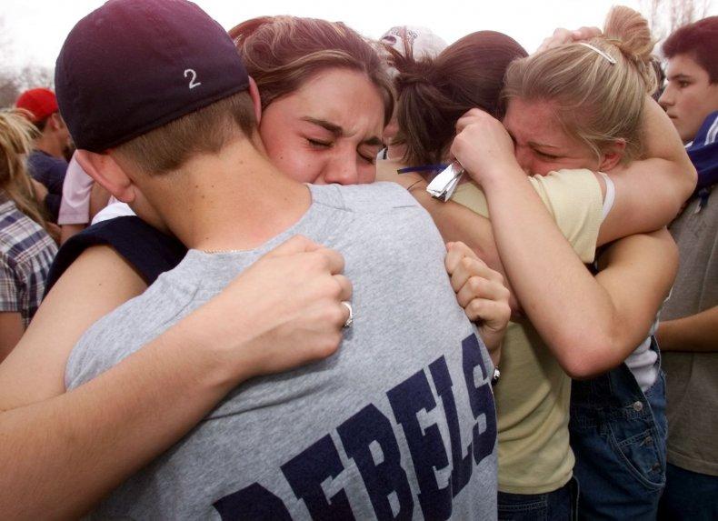 Columbine hugging