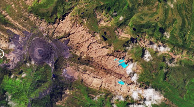 glacier loss in new guinea dec 5 2017