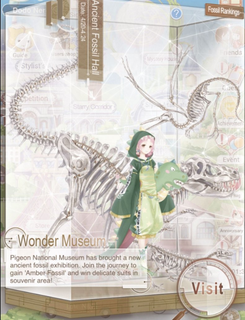 love, nikki, wonder, museum, event, guide, tips, pigeon, kingdom, stages, quiz, answers ancient fossil