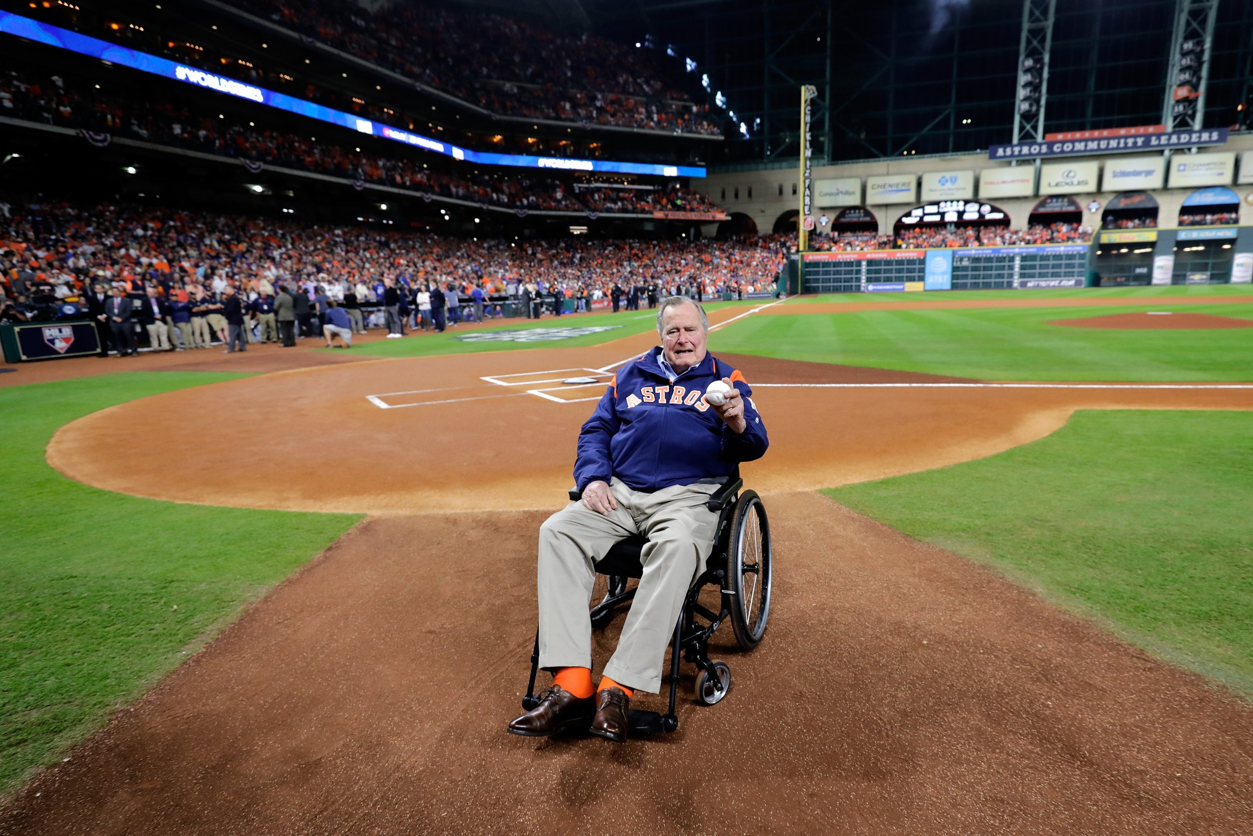 Bush at Houston Astros game