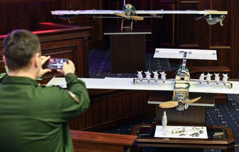 Russian swarm attack drone