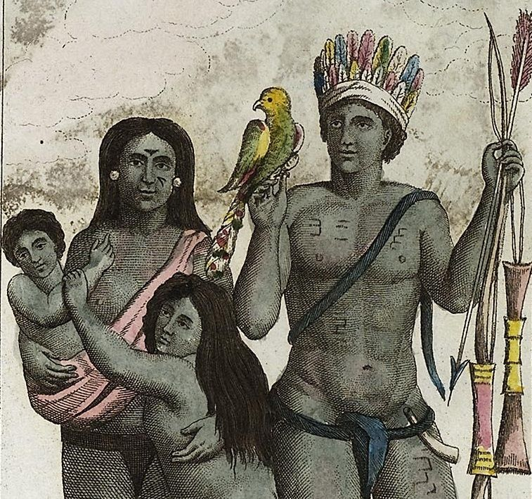 Carib_indian_family_by_John_Gabriel_Stedman