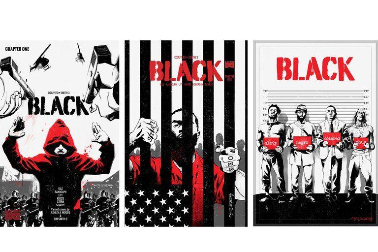 BLACK comic book graphic novel movie studio 8