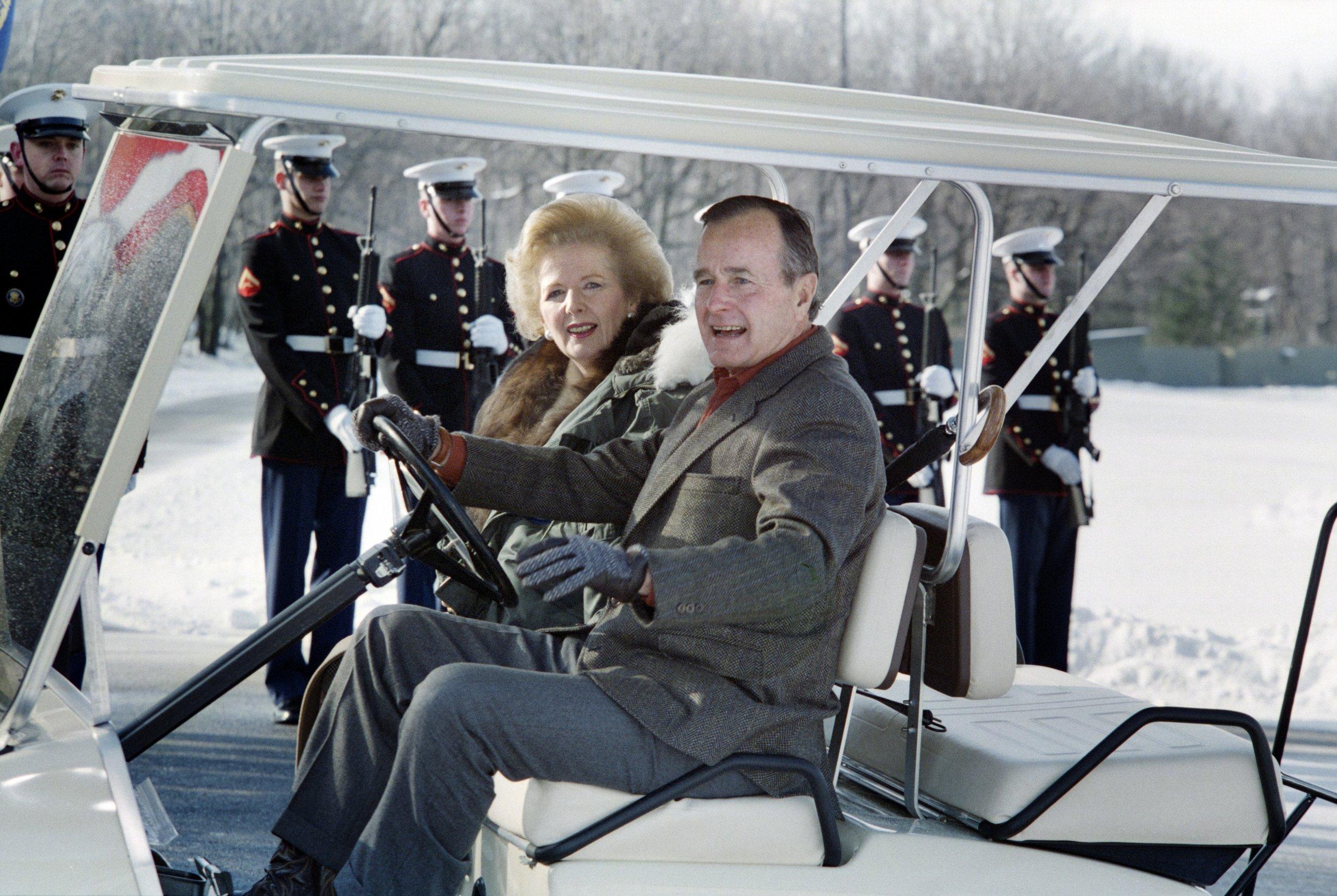President Bush, Prime Minister Thatcher