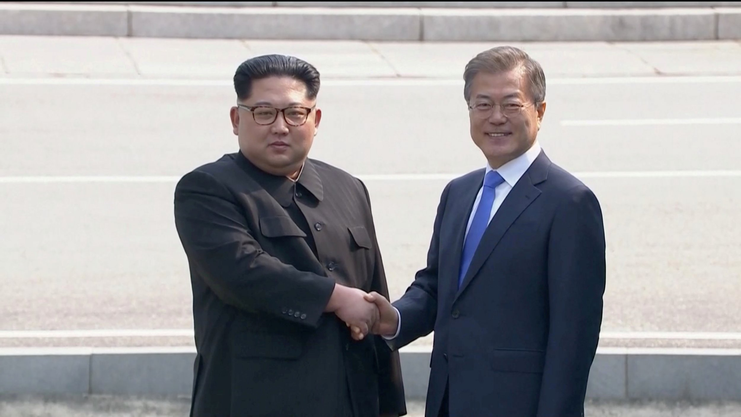 North Korea and South Korea meet