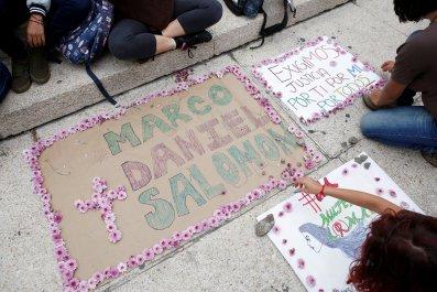 Mexico students killed demo