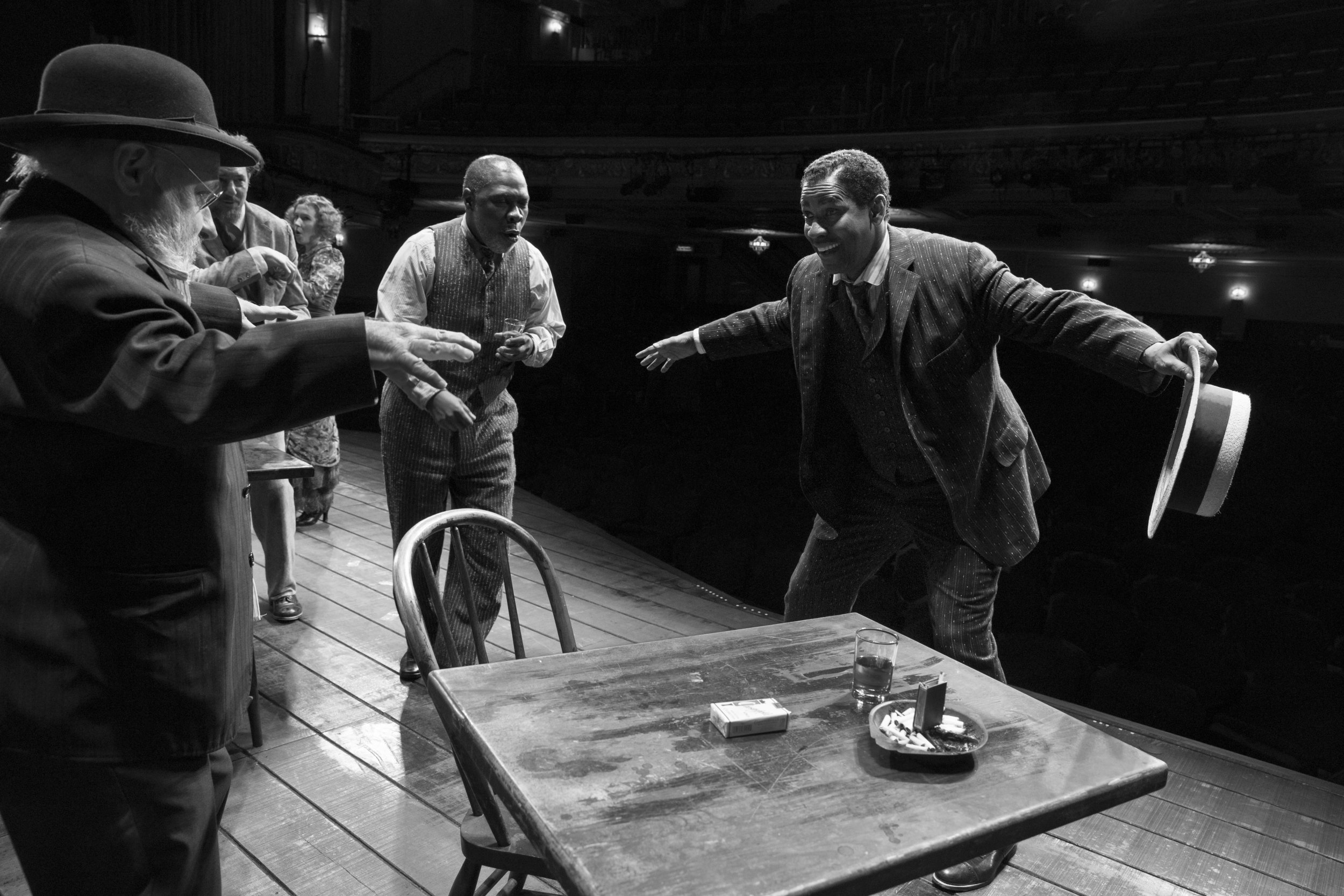 Michael Potts, Denzel Washington and the Company of THE ICEMAN COMETH