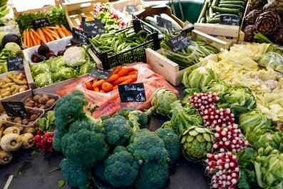 vegetables at the market