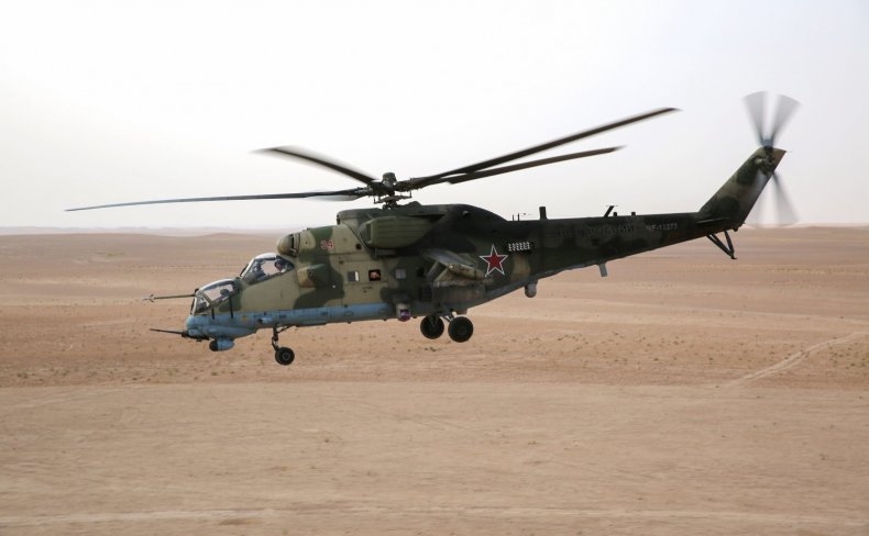 Russian Hind helicopter