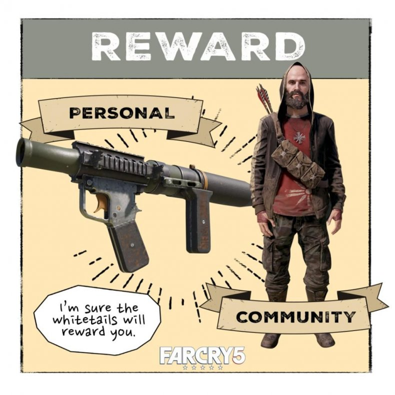 far, cry, 5, white, collar, job, live, event, guide, rewards, shovel, launcher, jacobs, hunter, outfit