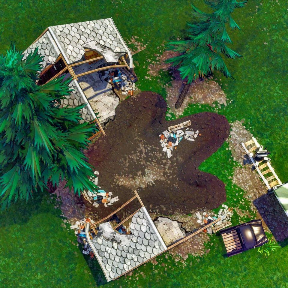 dinosaur footprint - dinosaure fortnite map