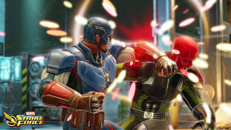 marvel strike force cap punching