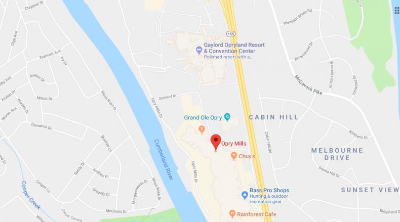 Opry Mills map