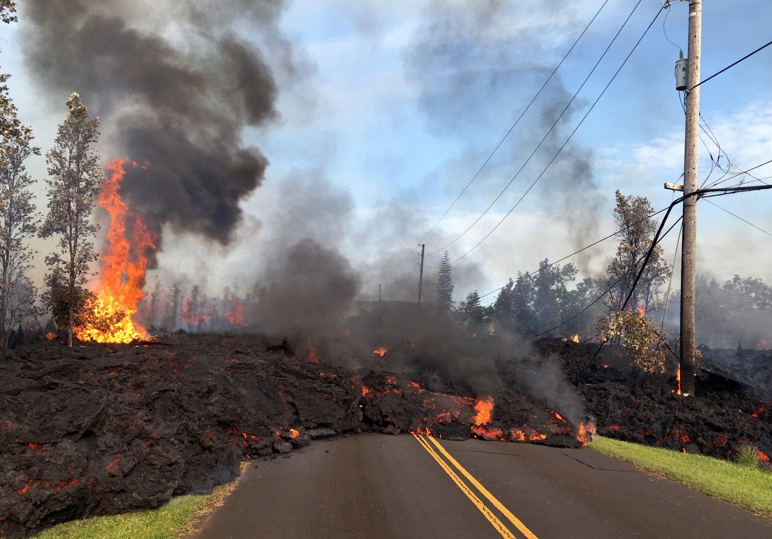 Lava from Hawaii Volcano