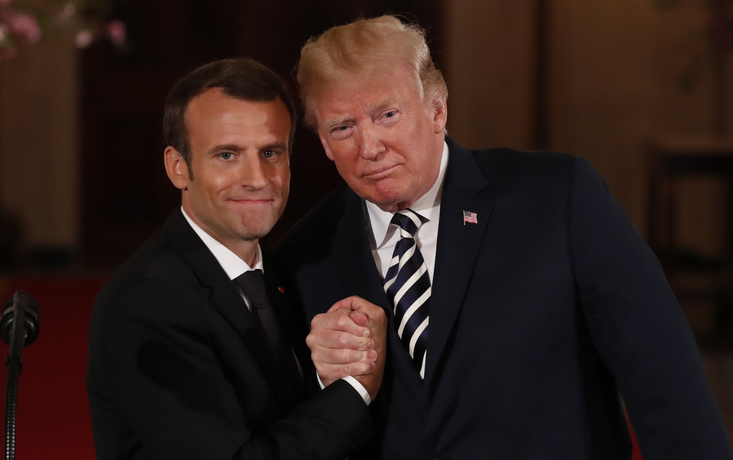 Macron Trump Could Start A War With Iran Nuclear Deal