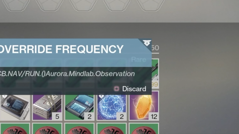 Destiny 2 Override Frequency code Destiny 2 The Unsolvable Problem how to get Sleeper Nodes warmind guide Nascent Dawn quest data Rasputin