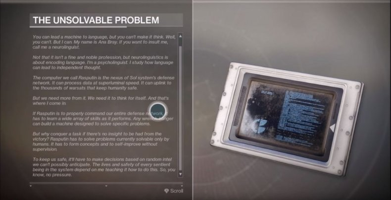 Destiny 2 The Unsolvable Problem how to get Sleeper Nodes override frequency warmind guide Nascent Dawn quest data Rasputin