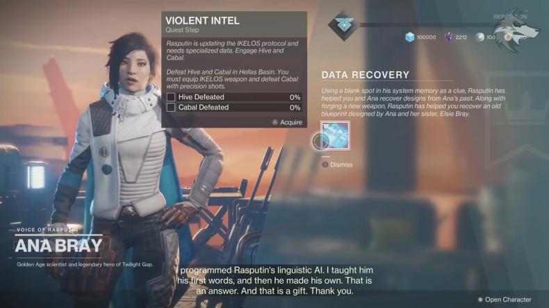 Destiny 2 Violent Intel