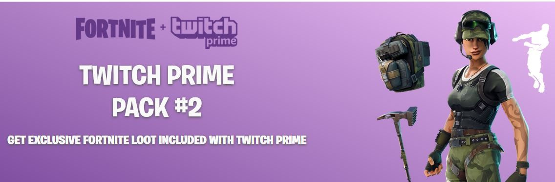 fortnite twitch prime pack 2 banner - how to get the twitch prime pack fortnite season 7