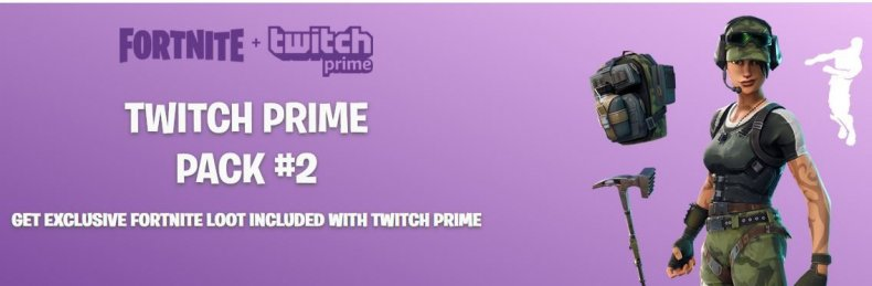 Fortnite Twitch Prime Pack 2 banner