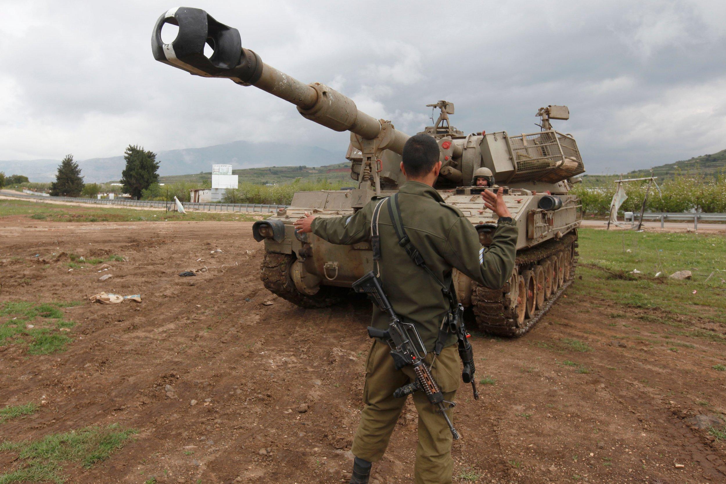 Golan Heights IDF drill