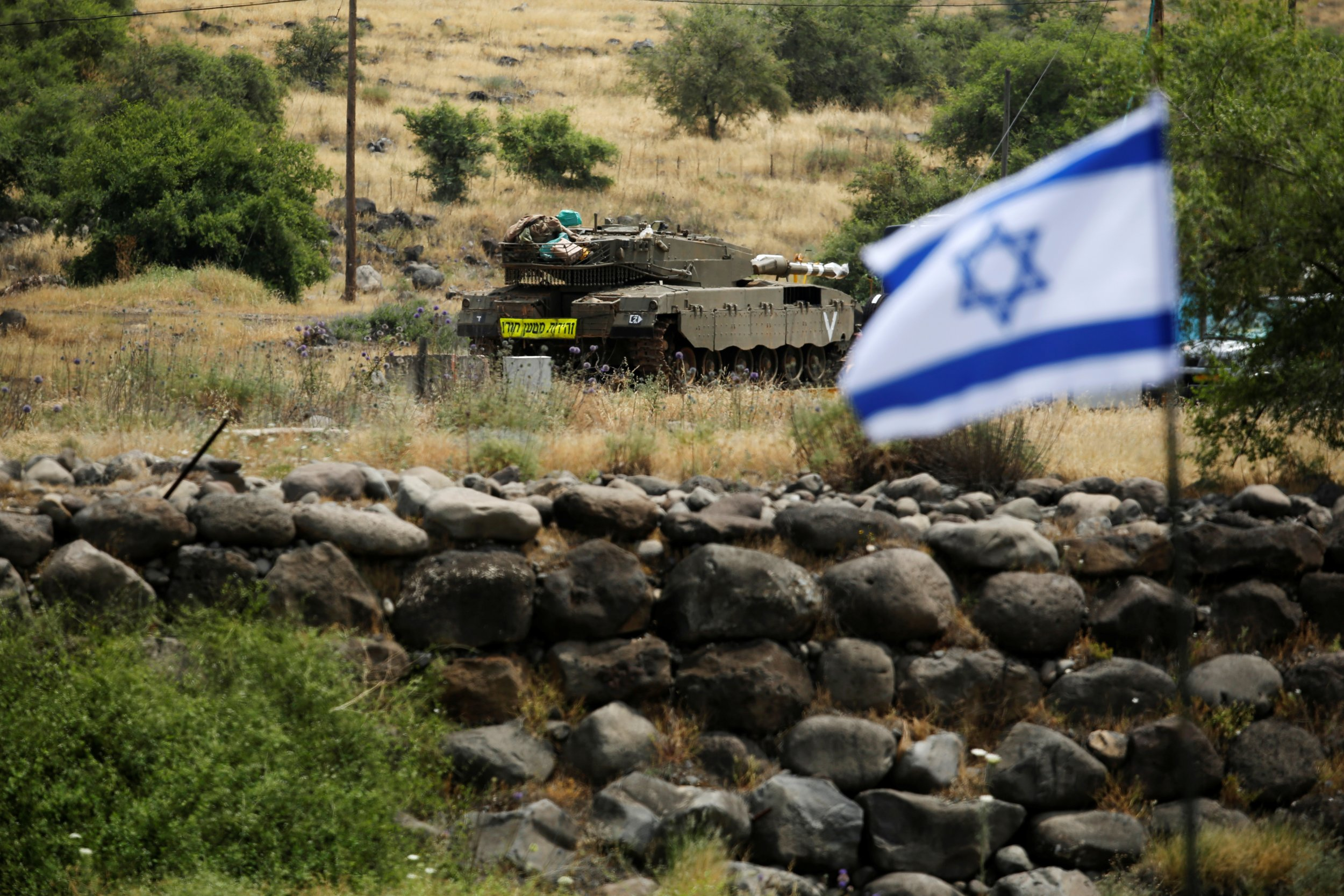 Israeli soldier at Golan Heights