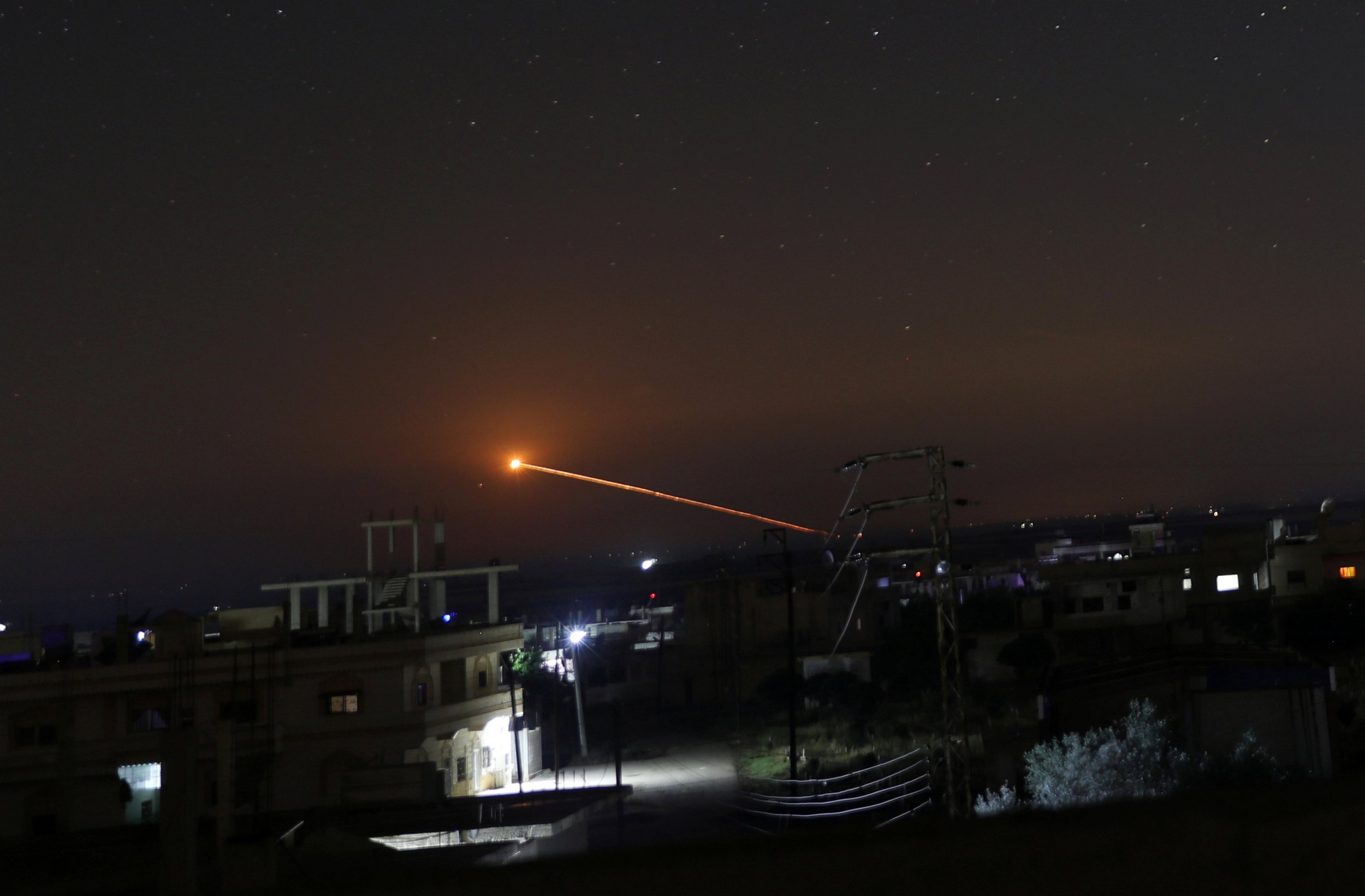 Missile fire Syria