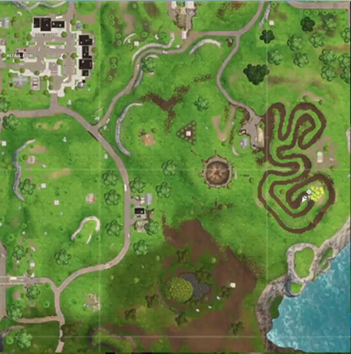 Fortnite treasure map in salty springs