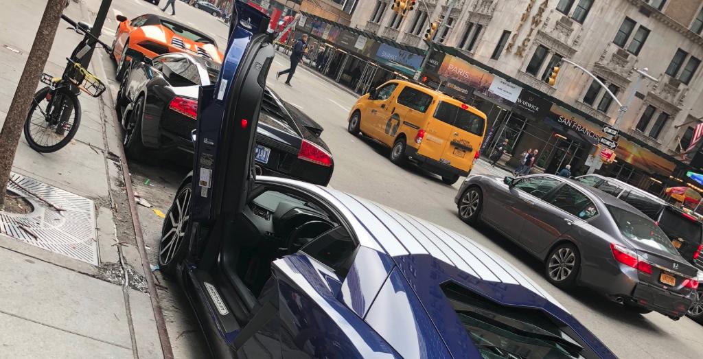 Three Lamborghinis