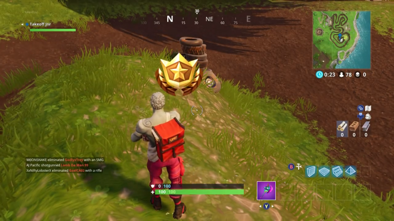 Fortnite Salty Springs Treasure location