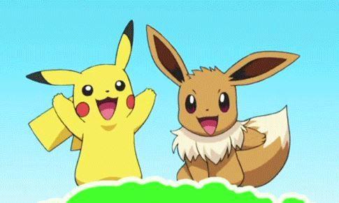 pikachu and eevee pokemon anime 2