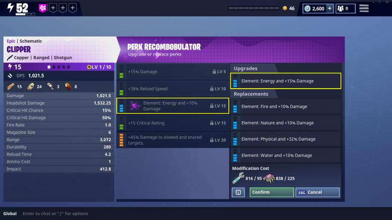 Fortnite Perk Recombinator