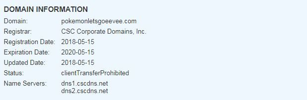pokemon lets go eevee domain registration