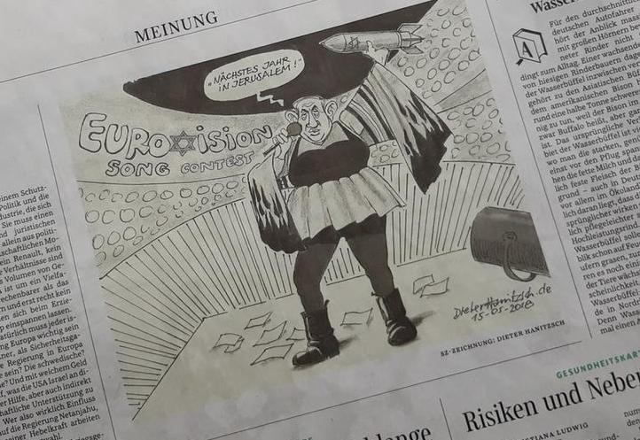 Netanyahu drawing in german newspaper called 39 anti semitic for Dieter hanitzsch