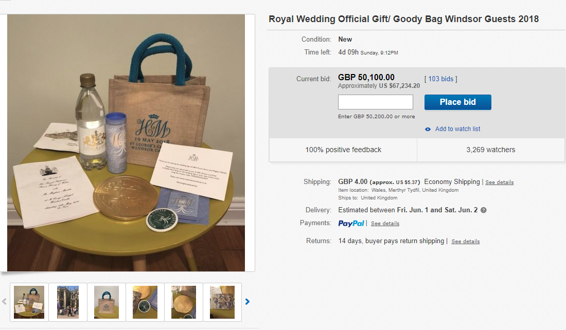 Royal Wedding Gifts: Royal Wedding Guest Sold Official Prince Harry And Meghan
