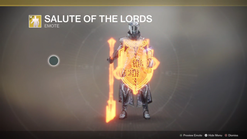 Destiny 2 Salute of the Lords