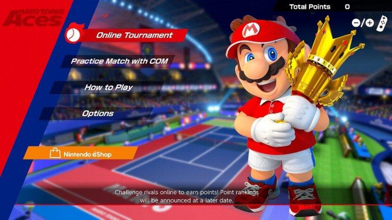 Mario tennis aces demo menu