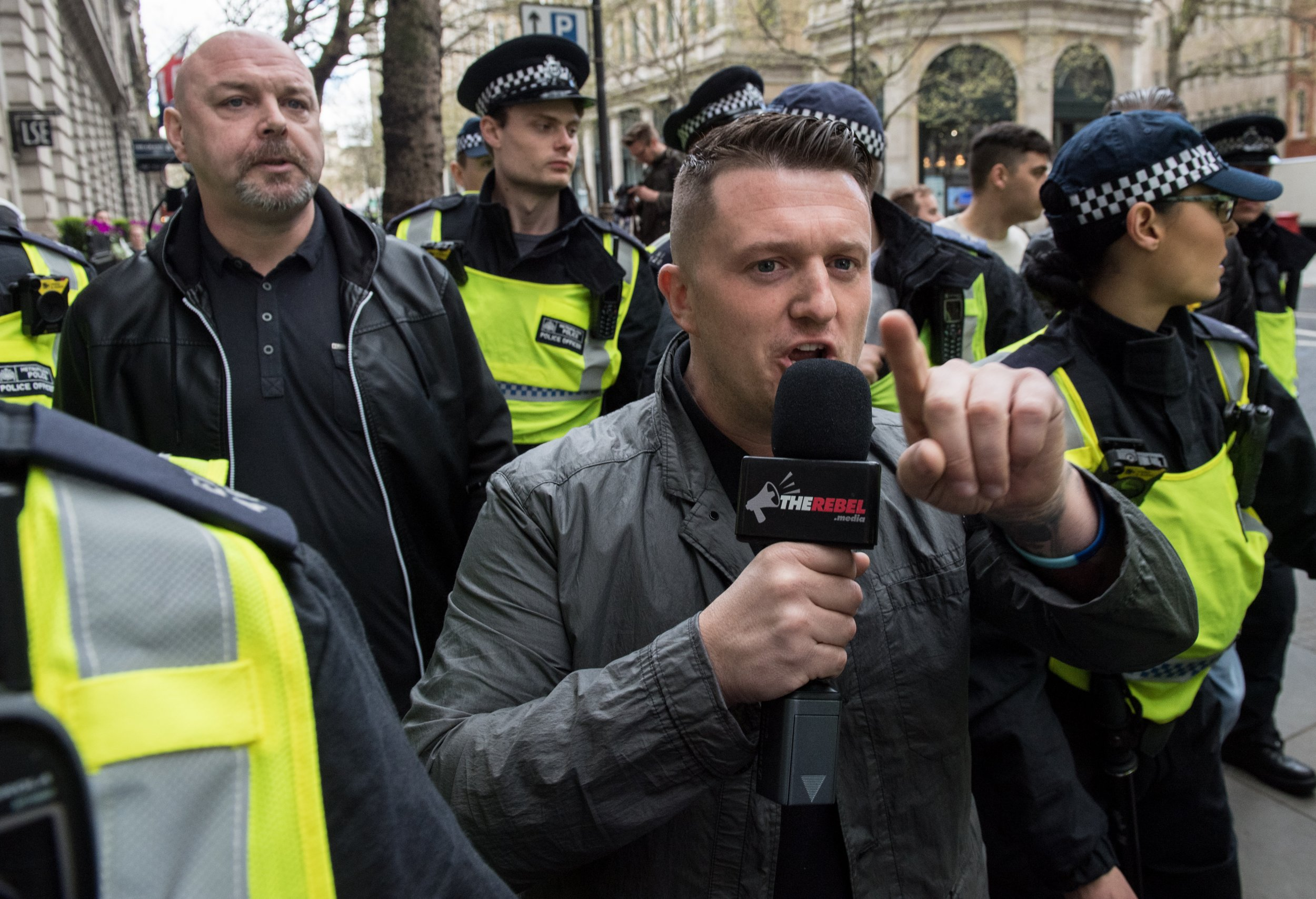 Image result for Tommy Robinson was arrested""