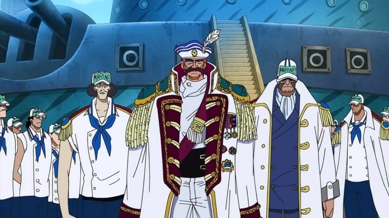 Jonathan_and_Drake_Arriving_at_Marineford one piece anime navy