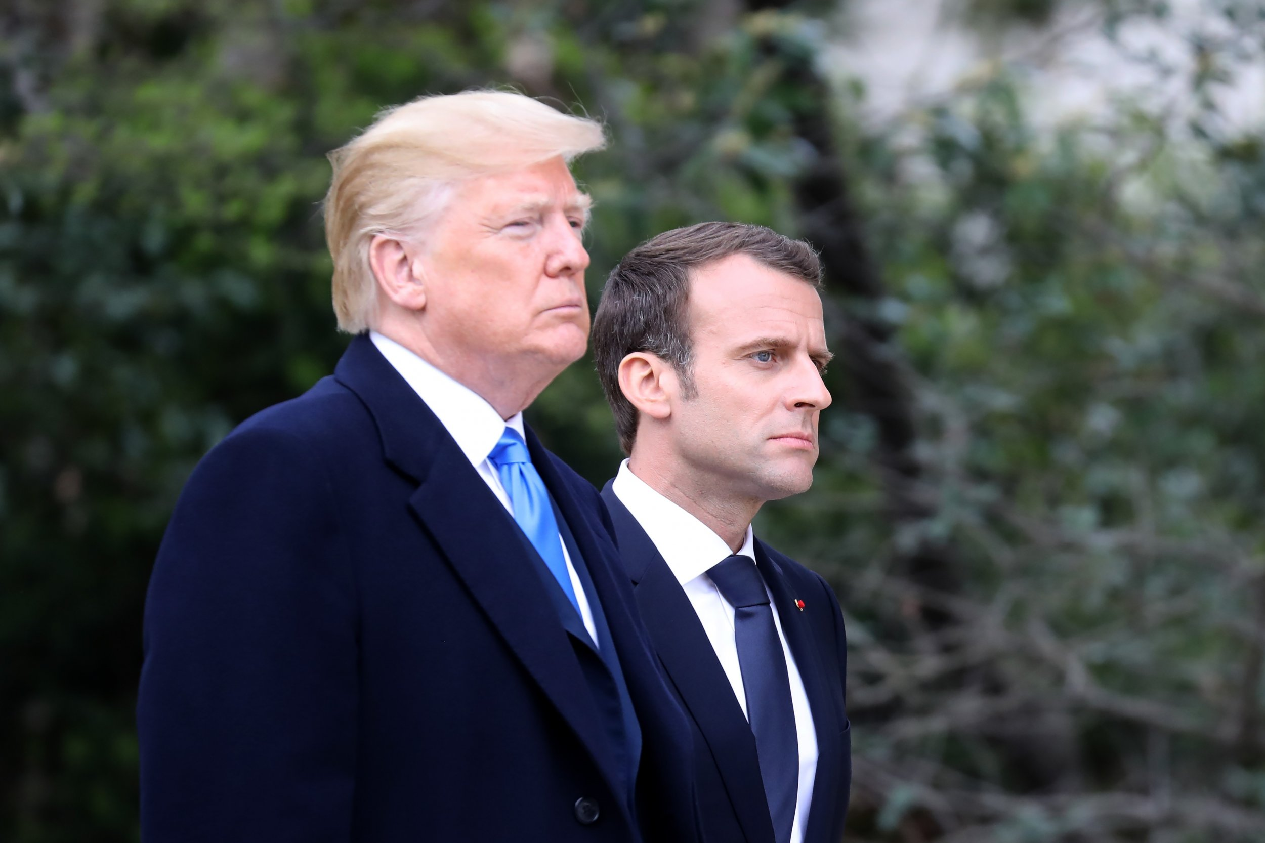 Trump Macron