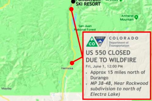 Colorado 416 Fire Map: Durango Blaze Grows to Nearly 2,000 Acres, No on