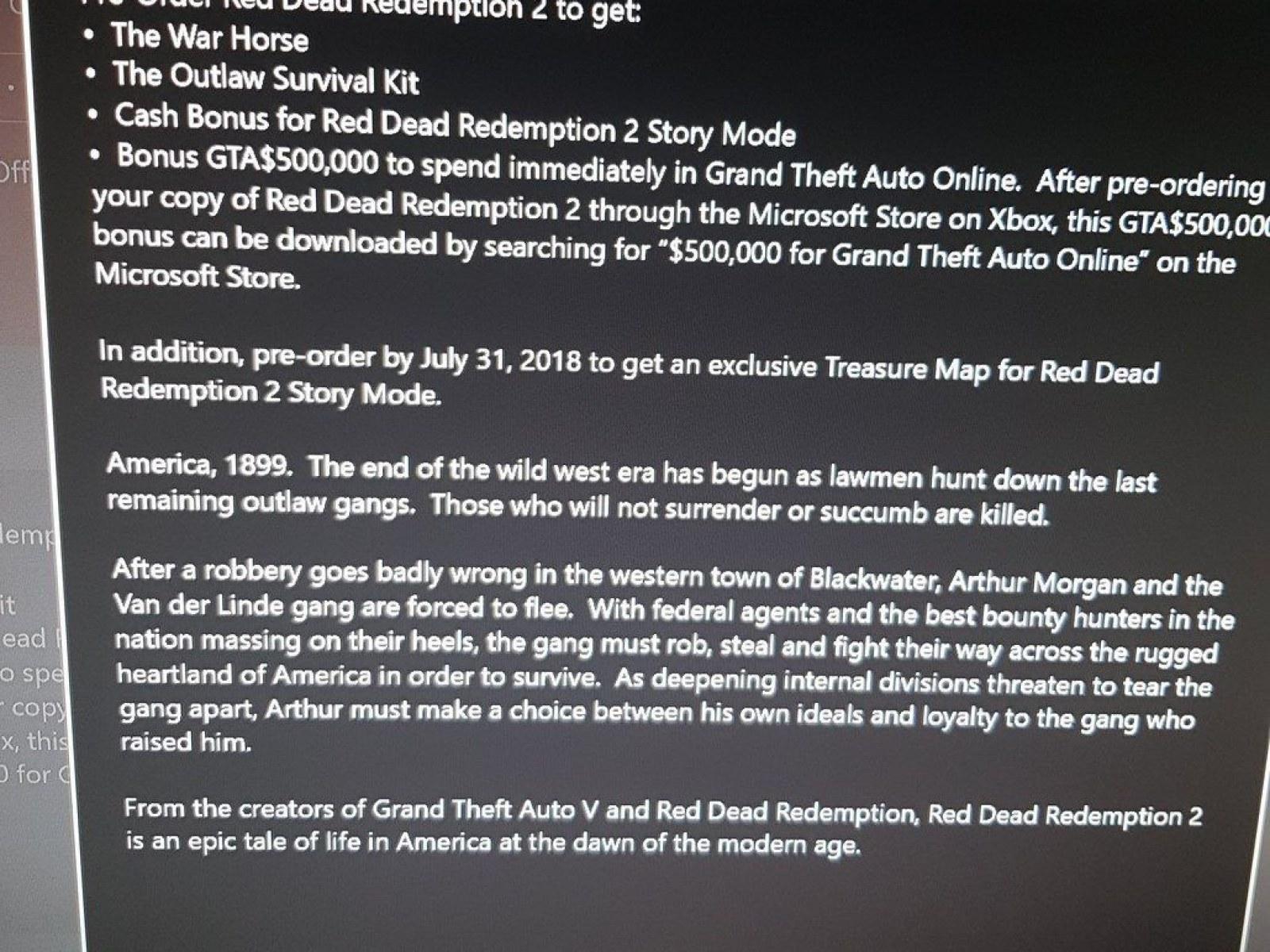 Red Dead Redemption 2' Pre-Order Rewards Leaked, Includes GTA$