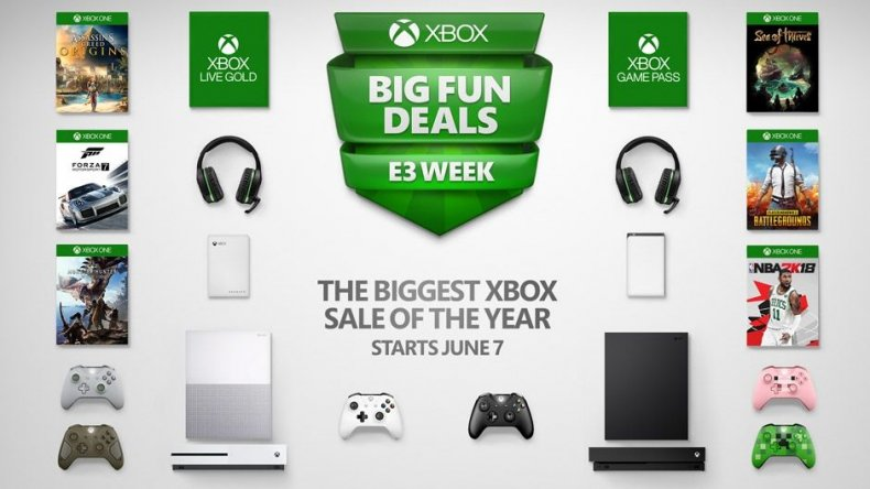xbox-sale-e3-2018-games-consoles bundle Sea of Thieves, PUBG, Minecraft, Madden when does sale start end