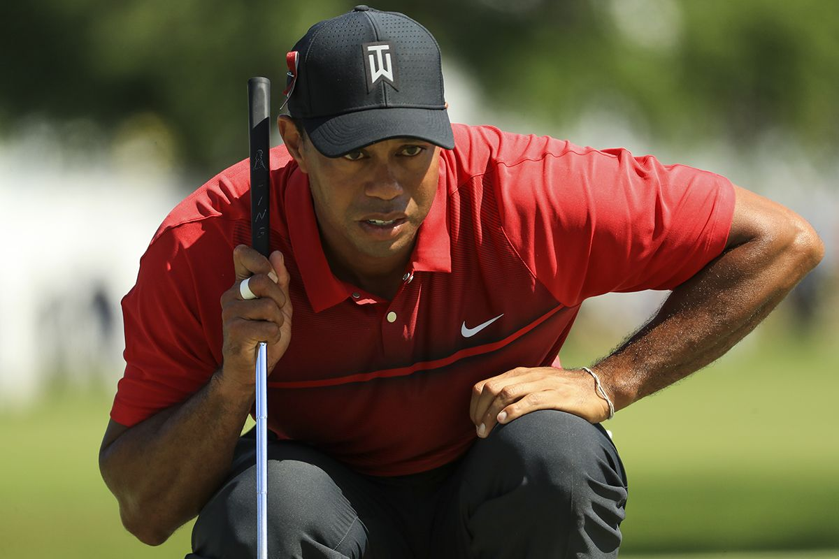 how did tiger woods finish today  woods slips down