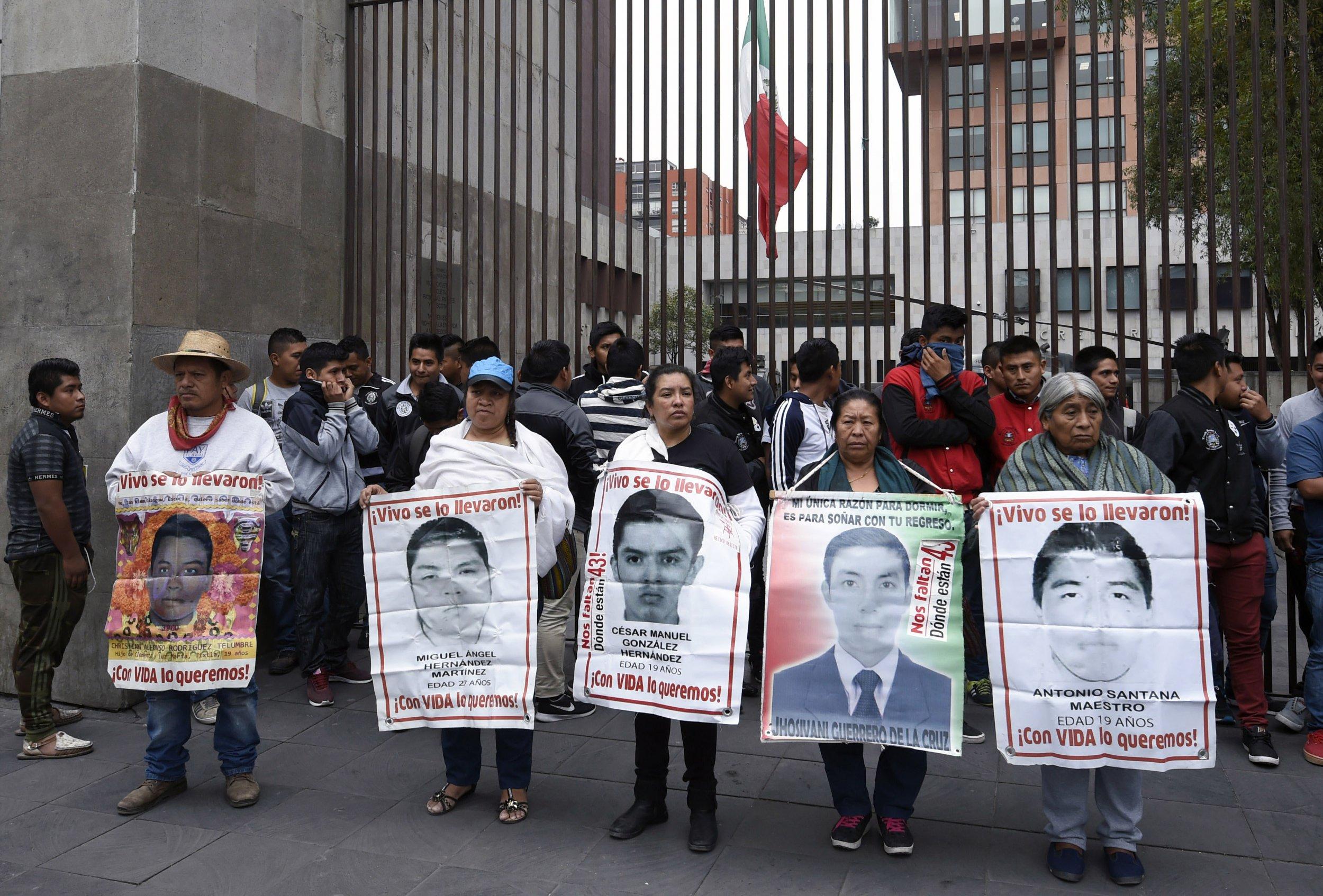 demonstration missing 43 students