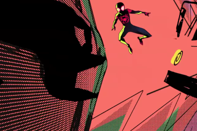 into the spider verse comic book movie miles morales animated