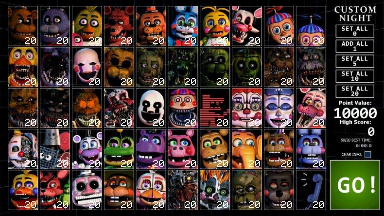 Ultimate Custom Night roster