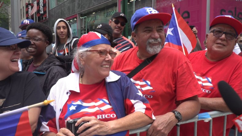 People line up for Puerto Rican Day Parade